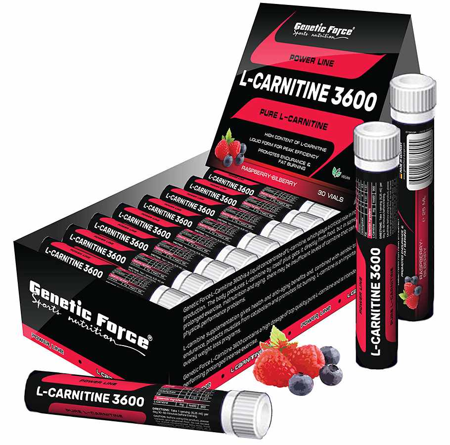Genetic Force • L-Carnitine 3600 • 30 x 25 мл.