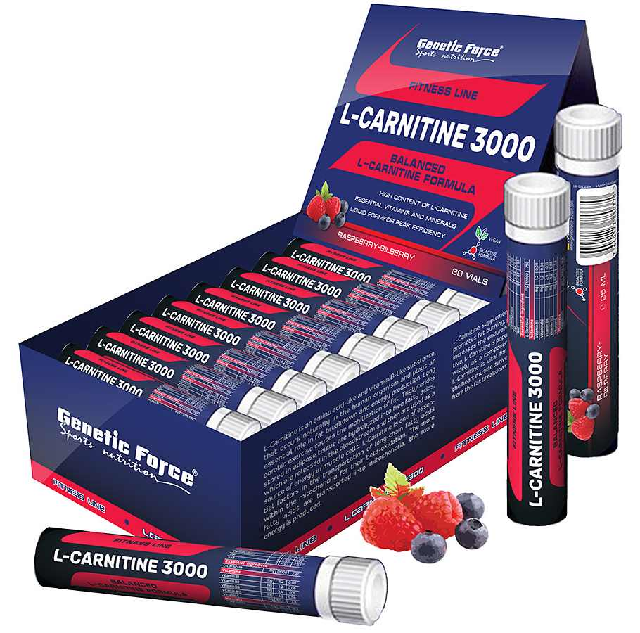 Genetic Force • L-Carnitine 3000 • 30 x 25 мл.