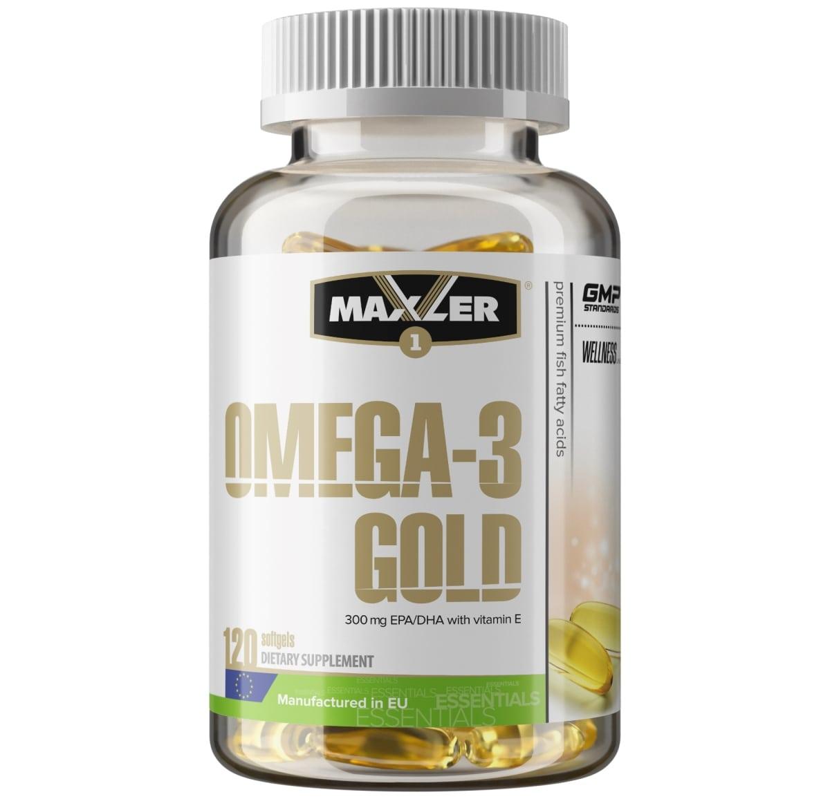 MAXLER • Omega-3 Gold • 120 caps