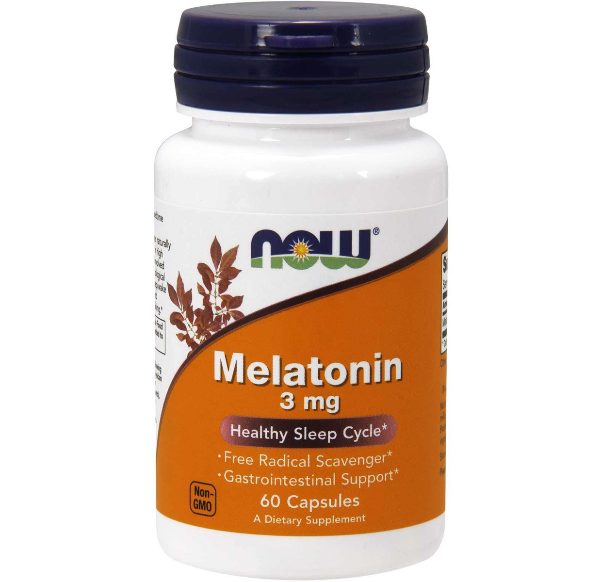 NOW Foods • Melatonin 3 mg • 60 caps.