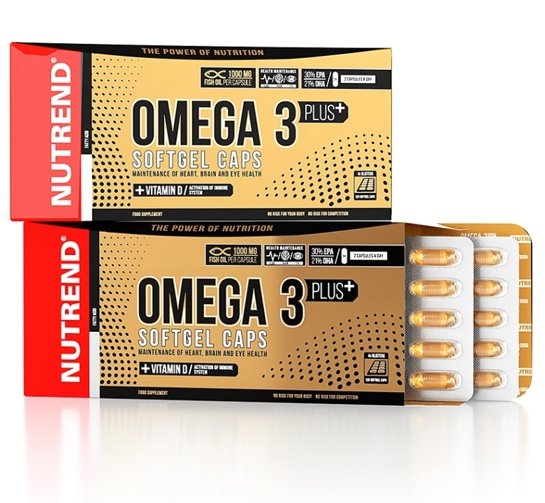 NUTREND • OMEGA 3 PLUS SOFTGEL CAPS • 120 капс
