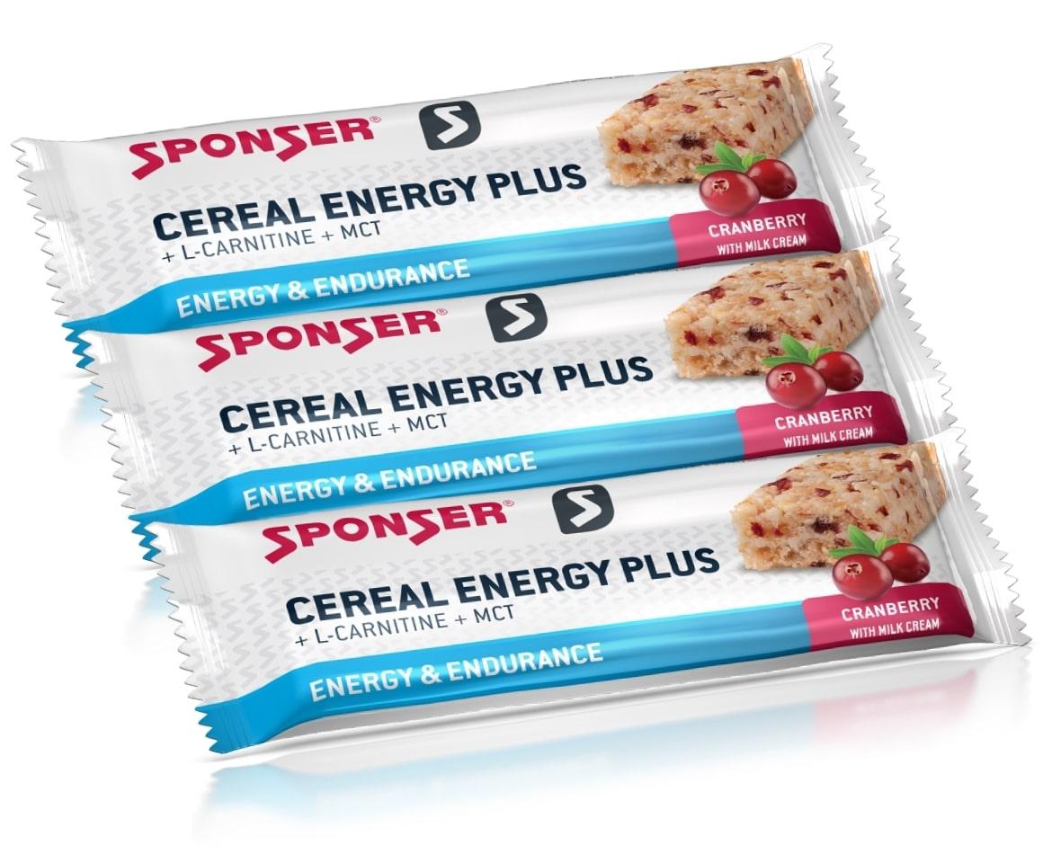 Sponser • Cereal Energy Plus Bar • 15x40г