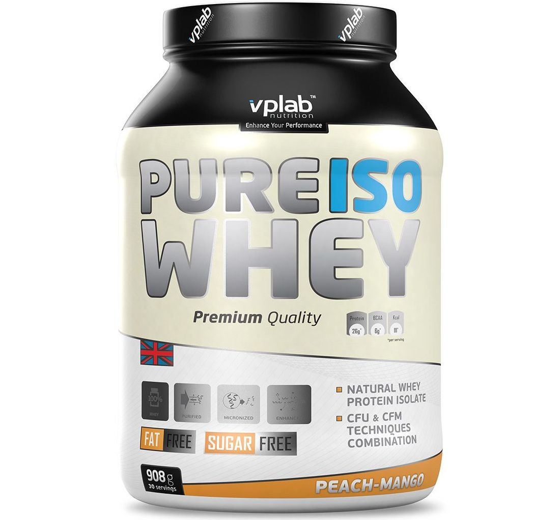 VPLab • Pure ISO Whey • 2 lbs / 908 гр.